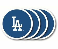 Los Angeles Dodgers Coaster Set - 4 Pack [NEW] MLB Drink Bar Man Cave Shot Vinyl