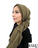 Designer Maxi Crinkle Scarf with Premium THICK Fine Cotton Hijab Shawl Wrap