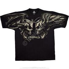 GOOD & EVIL-ANGEL DEVIL SKULLS-T-SHIRT S-M-L-XL-XXL,3X-4X-5X-6X Heaven or Hell