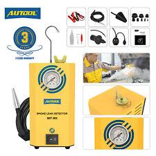 AUTOOL Car Smoke Machine Fuel Pipe Leakage Detector EVAP Diagnostic Tool 12V