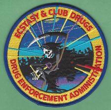 DEA DRUG ENFORCEMENT ADMINISTRATION ECSTACY & CLUB DRUGS UNIT POLICE PATCH
