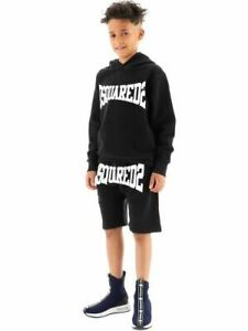 DSQUARED2 Kids Boys Logo Shorts in Black - 100% Cotton with Pockets
