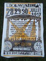 FESTIVAL L'ECAUSSYSTEME - AFFICHE CONCERT 70 x 100 CM GIGNAC (FRANCE) 2017