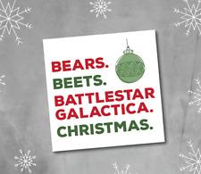 Bears Beats Battlestar Galatica - Christmas Card - the office - dwight schrute