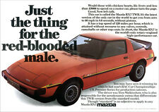 MAZDA RX7 TWR SPORTS COUPE RX-7 RETRO A3 POSTER PRINT FROM CLASSIC 80'S ADVERT
