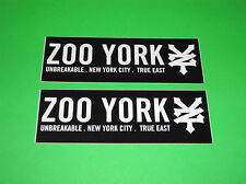 ZOO YORK MOTOCROSS ATV QUAD SKATEBOARD WAKEBOARD SNOWBOARD BMX STICKERS DECALS