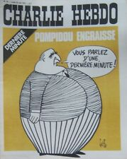 CHARLIE HEBDO No 79 MAI 1972 GEBE DERNIERE MINUTE POMPIDOU ENGRAISSE