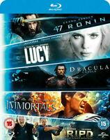 47 Ronin/Lucy/Dracula Untold/Immortals/R.I.P.D. - 5 disc Blu-Ray