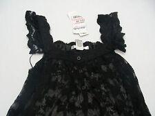 Rosas - Negro -polyester - Pequeño Talla Camisola