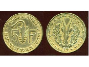 ETATS DE L'AFRIQUE DE L'OUEST  5 francs 1970  ( 1 )
