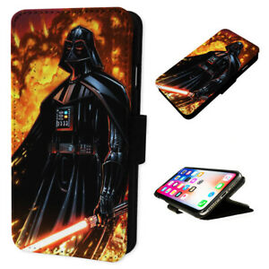 Darth Vader Lightsaber - Flip Phone Case Wallet Cover - Fits Iphone & Samsung
