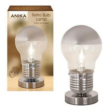 Anika Touch Activated Opal Light Bulb Bedside Table Lamp Deco Style Retro 62350