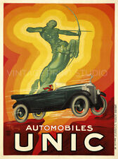 FRENCH SPORT CAR, 1928 Vintage Automobile Advertising Repro Canvas Print 20x27