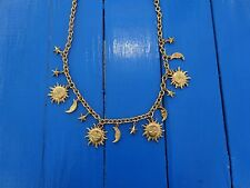 Made Exclusively for Karl Lagerfeld Parfumes Sun Moon Stars Gold Chain Necklace