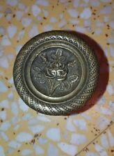 1 bouton, poignée de tiroir commode en bronze ou laiton meuble fleur rose 5,2 cm