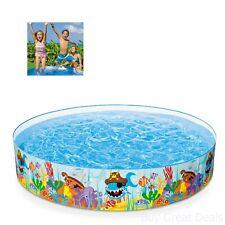 Intex Kiddie Pools Ocean Reef Snapset Inflatable Pool 8x18in For Ages 3 Plus