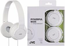 JVC HA-S180 Blancas Ligeras Potente bajo 2-way Plegable Auriculares / Nuevo