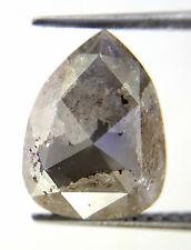 Rare! 3.01TCW Pear shape Gray color Rose cut Loose Fancy Antique Natural Diamond
