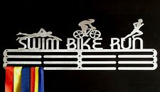 Medal Hanger Holder Display Rack Hook SWIM BIKE RUN Steel STORE 60 MEDALS