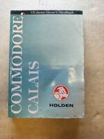 Dirty VX Commodore Calias Owners Handbook for Glove Box has low service coupon