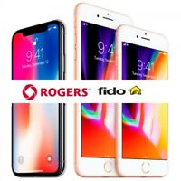 24 HOUR UNLOCK ROGERS CHATR FIDO iPHONE 4 4s 5 5s 6 6s 6+ 6s+ SE 7 7+ 8 8+