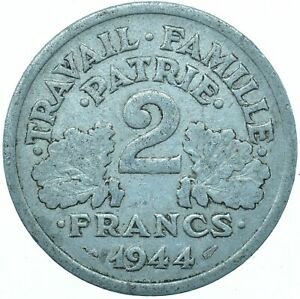 COIN / FRANCE / 2 FRANCS 1944 BEAUTIFUL COLLECTIBLE   #WT31570