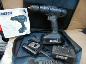 """909 Cordless drill driver Set CD182-UC 18 Volt  1/2"""" W/ Two Batteries & Charger"""