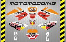 Pegatinas honda crf70 malcor repsol Marquez adhesivos stickers decals  pitbike