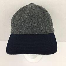 NWT J Crew Mens Hat Wool Blend Colorblock Navy Grey Classic Baseball Cap NEW