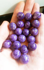 Lot 50 pcs. 15mm. AAA TOP-GEM-QUALITY ROYAL PURPLE CHAROITE LOOSE JEWELRY BEADS