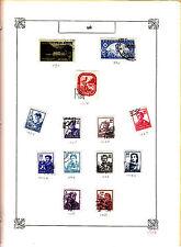 ROMANIA Old Stamps Roumanie vieux timbres sur feuiles d'albums lot 448