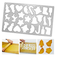 Christmas Cookie Cutter Fun Shapes Snowman Reindeer Pastry Biscuit Baking Sheet