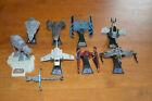 Lot of 9 Star Wars Micro Machines Titanium Diecast Ships AT-AT Slave 1 Vader Tie