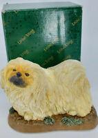 Pekingese On Base 2001 Living Stone By Encore Dog Figurine New