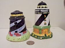 Vintage ceramic Salt & Pepper Shakers Lighthouses