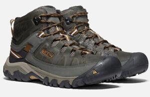 Keen Men's Targhee III Mid WP Boot Black Olive/Golden Brown Size 8 US
