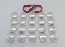 SAAB 9-3 9-5 93 95 CHROME WHEEL NUT BOLT COVERS CAPS 17mm x 20