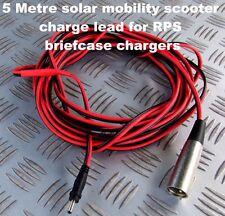 5 mètre chargeur solaire plomb pour mobilité scooter fits rps mallette panneaux 2-13W