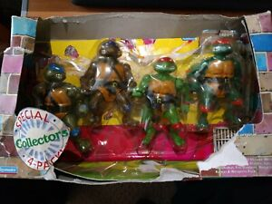 SPECIAL COLLECTOR'S 4-PACK - TMNT - PLAYMATES 1992 - NEW IN DAMAGED BOX