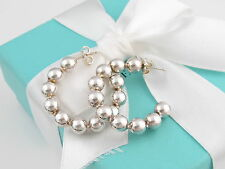 Tiffany & Co Picasso Beaded Ball Bead Hoops Earrings Box Included