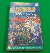 Rune War ***1st EDITION!!*** Joe Dever Lone Wolf Red Fox #1
