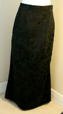 IMAGIO Womens A Line side zipper Formal Long Floral Black Skirt Size 10