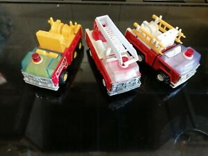 Vintage 3x Buddy L Corp Japan Fire Trucks / Engines job lot collection