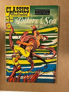 Classics Illustrated #56 1st Printing Toilers of the Sea I Combine Shipping