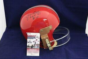 Y.A. Tittle Signed Autograph S.F. 49ers 1954 R/K Suspension Helmet - JSA CC71808