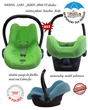 case summer,porowiec na fotelik frotte uniwersal maxi cosi cabrio fix, cover