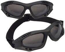 US USMC Army Military Marines Airsoft BLACK Ventec Tac Tactical Goggles Adjust