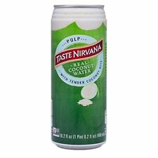 NEW Taste Nirvana Real Coconut Water with Pulp 16.2 Ounce Cans Pack of 12
