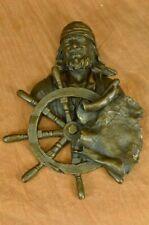 Statuette de Bronze Vintage Pirate Homme Art Déco Sculpture Décoration Maison