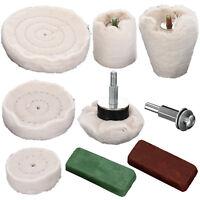 9 Pièces Kit De Polissage Rouge Vert Roue De  Feuilles Mobiles tampons coton